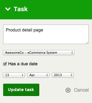 Task options